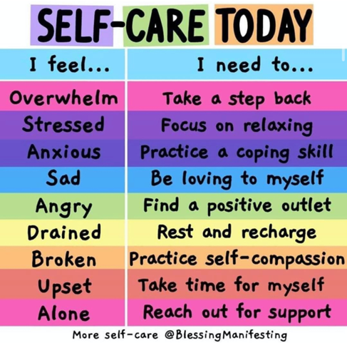 Build self-care time into your daily schedule.