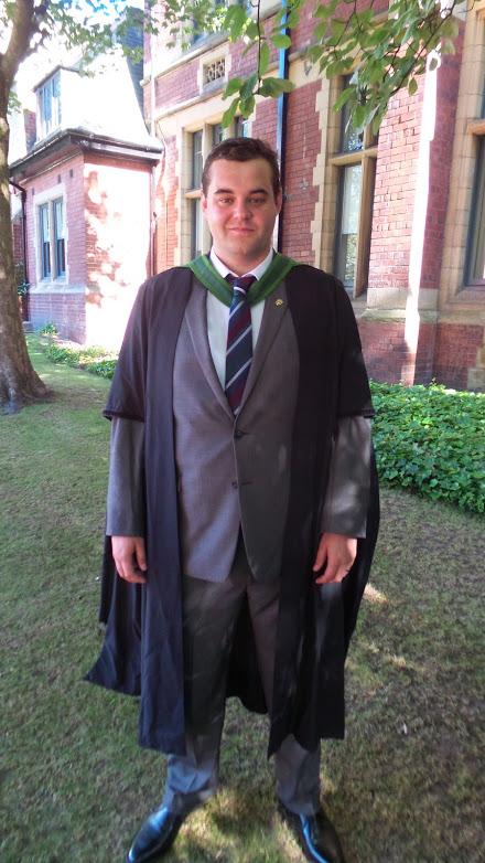 Daniel在利兹大学的毕业照