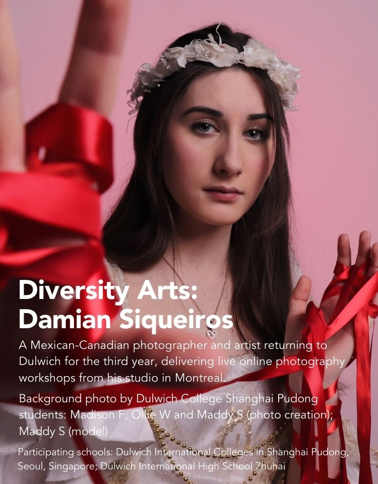 Damian Siqueiros teaches photography arts to Dulwich International College students