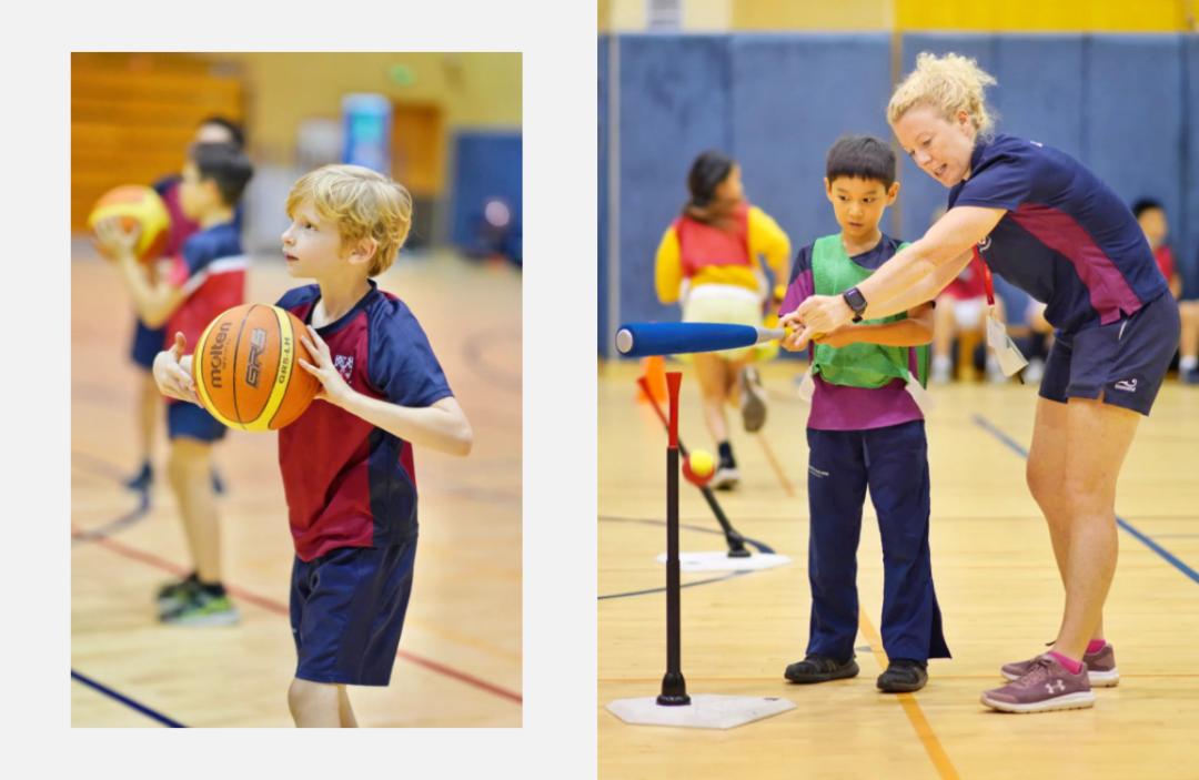 小学篮球和棒球课外活动