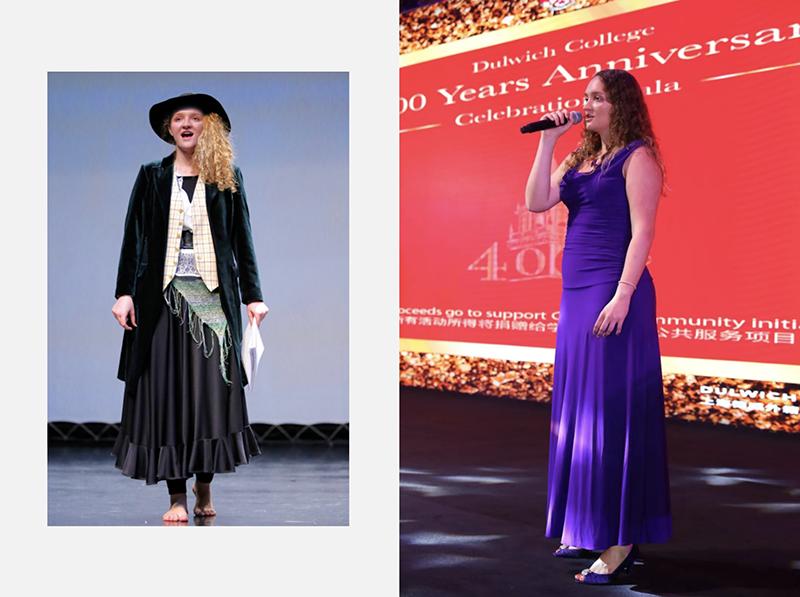 "Natasha在舞台上表演戏剧 ""奥利弗"" 以及在 ""德威400周年庆典""上演唱"