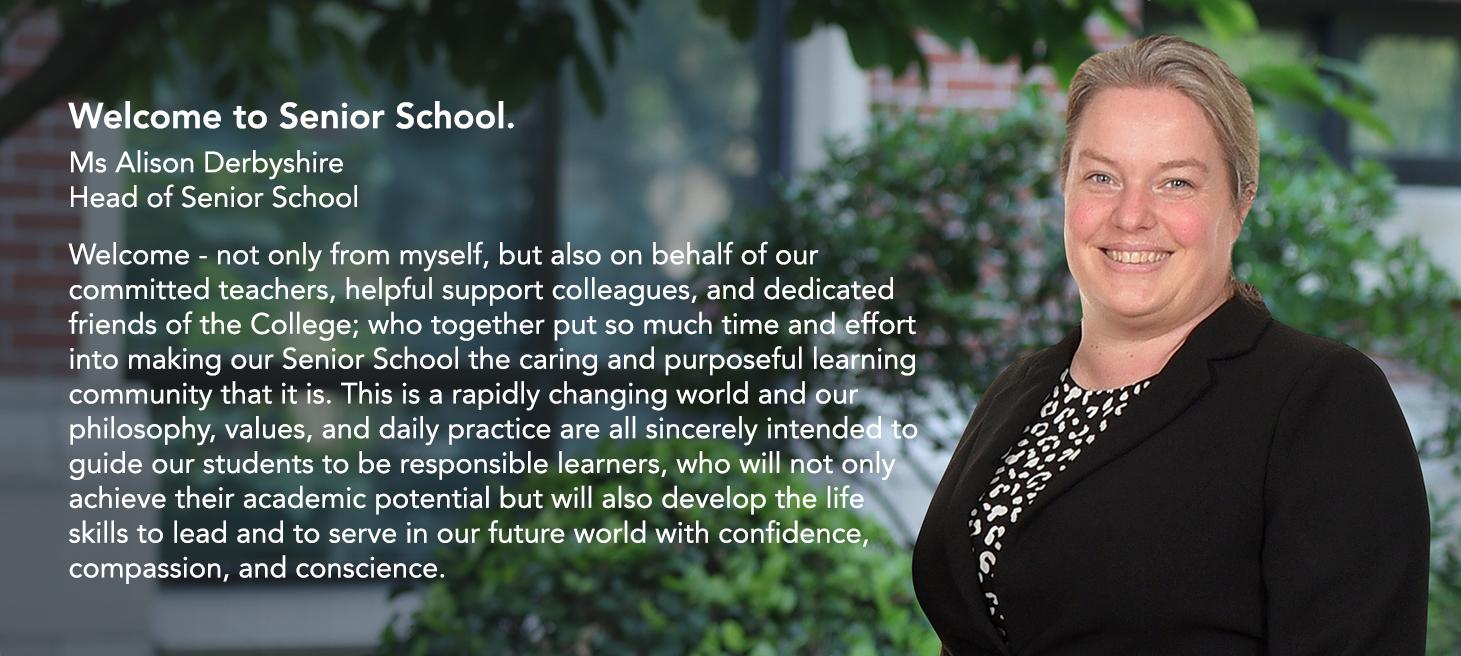 Alison Head of Senior School