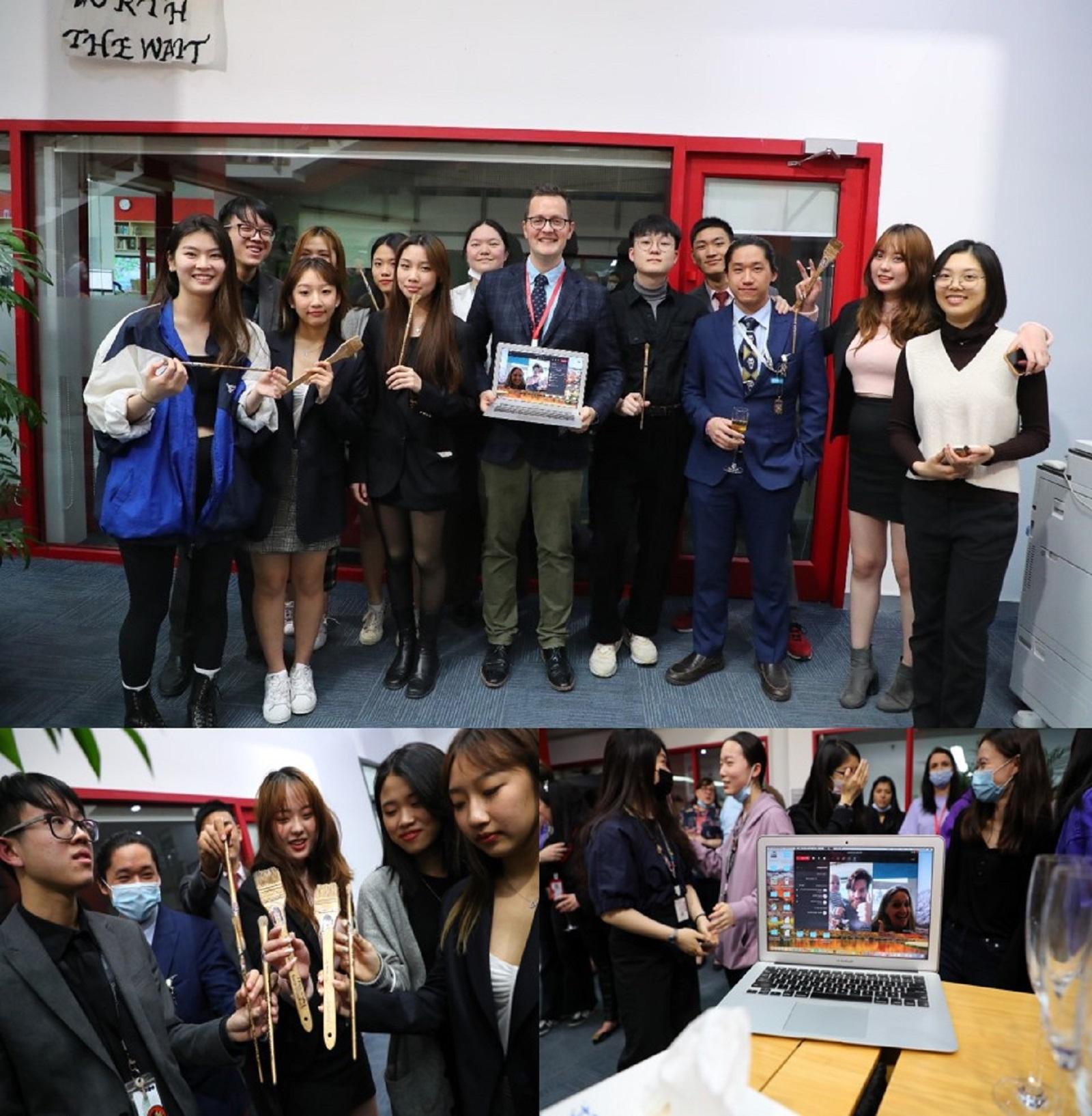 art exhibition's students