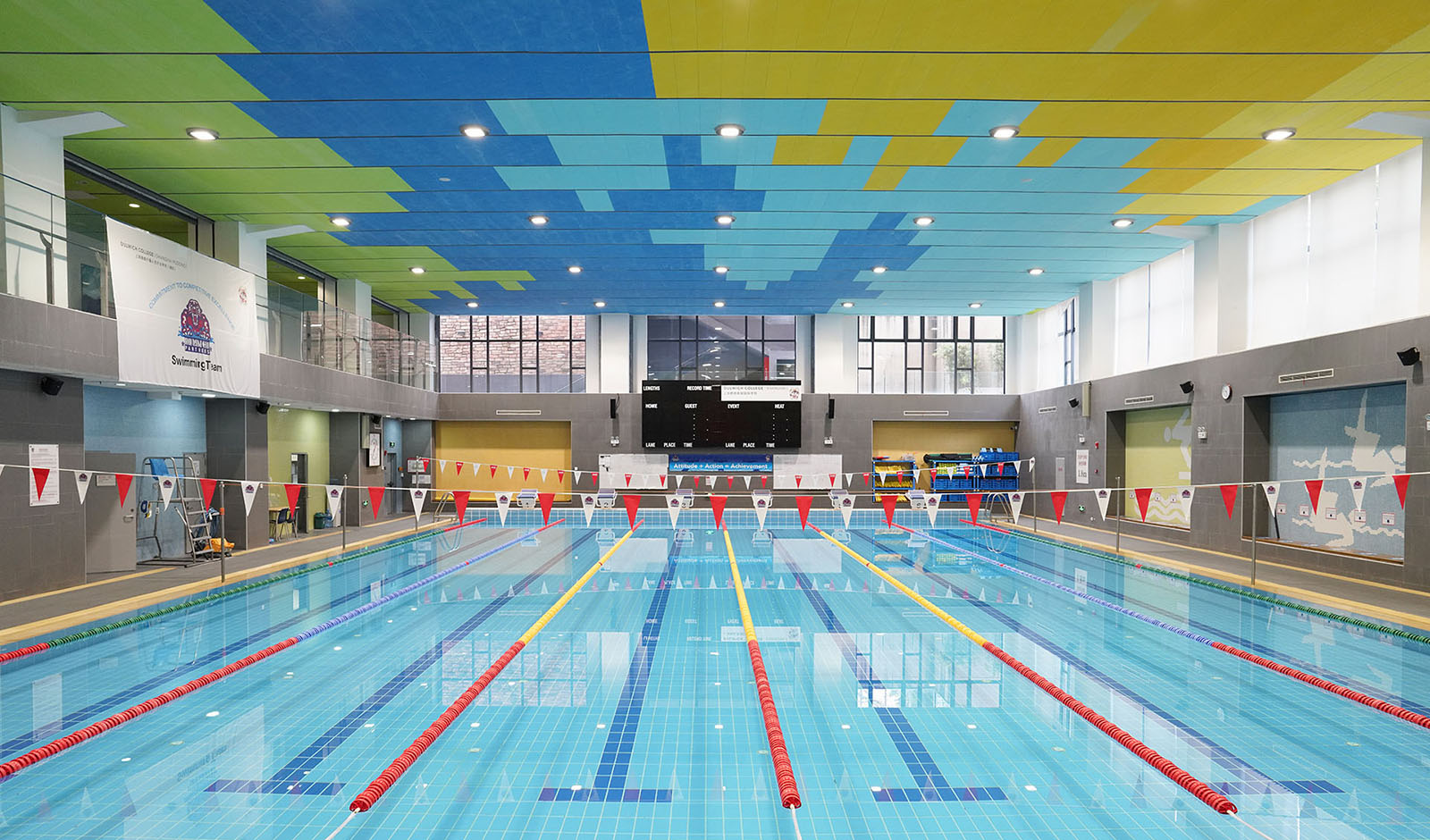 25-meter Olympic size swimming pool at the Dulwich Pudong Sports Centre