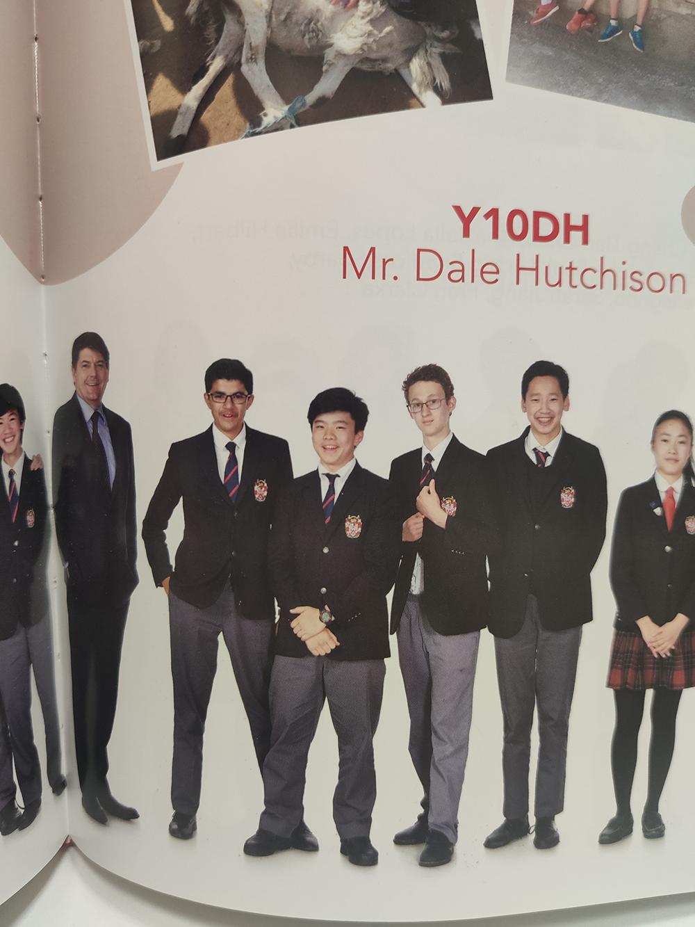 2018: Derek with Year 10 classmates