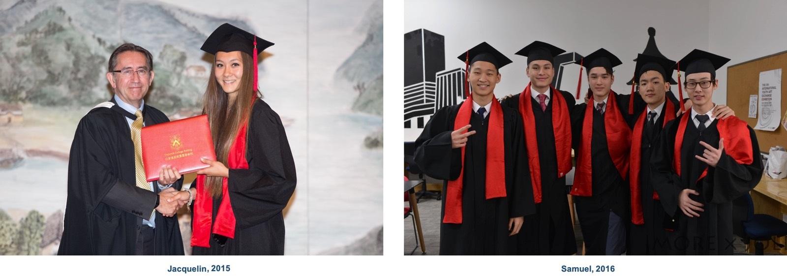 Jacquelin和Samuel的毕业照