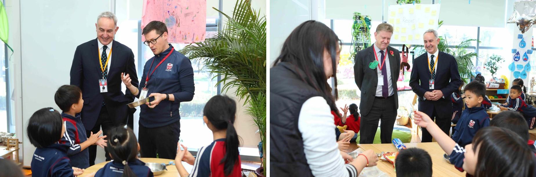 安德鲁·麦卡利与北京德威师生