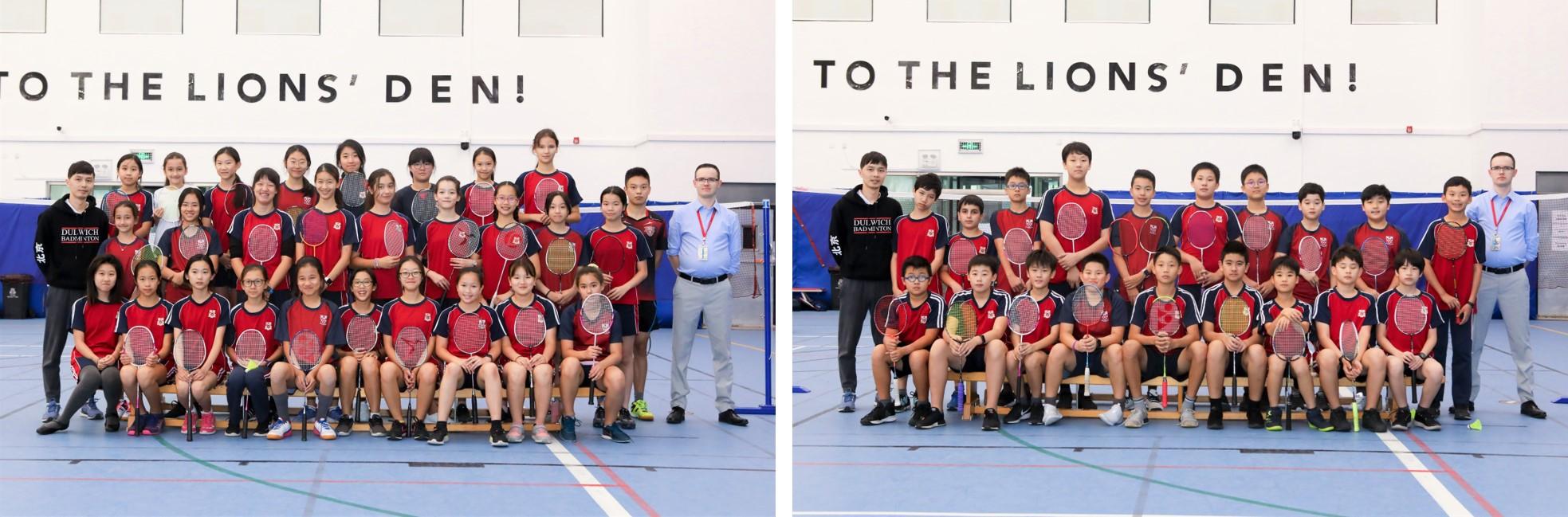 Dulwich students at ISAC U14 Badminton Tournaments