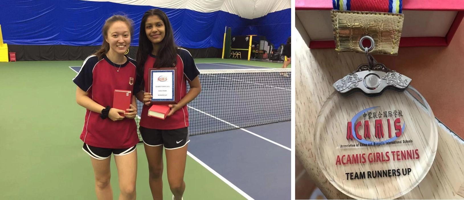 Dulwich U19 tennis players at ACAMIS Tennis Tournament