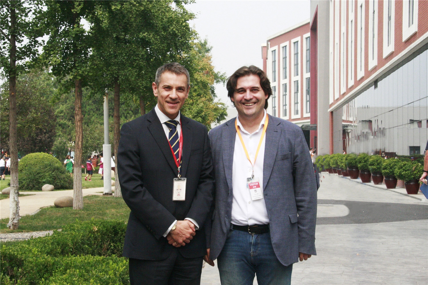 DCB Headmaster Mr Simon Herbert with Mr Pablo Mielgo