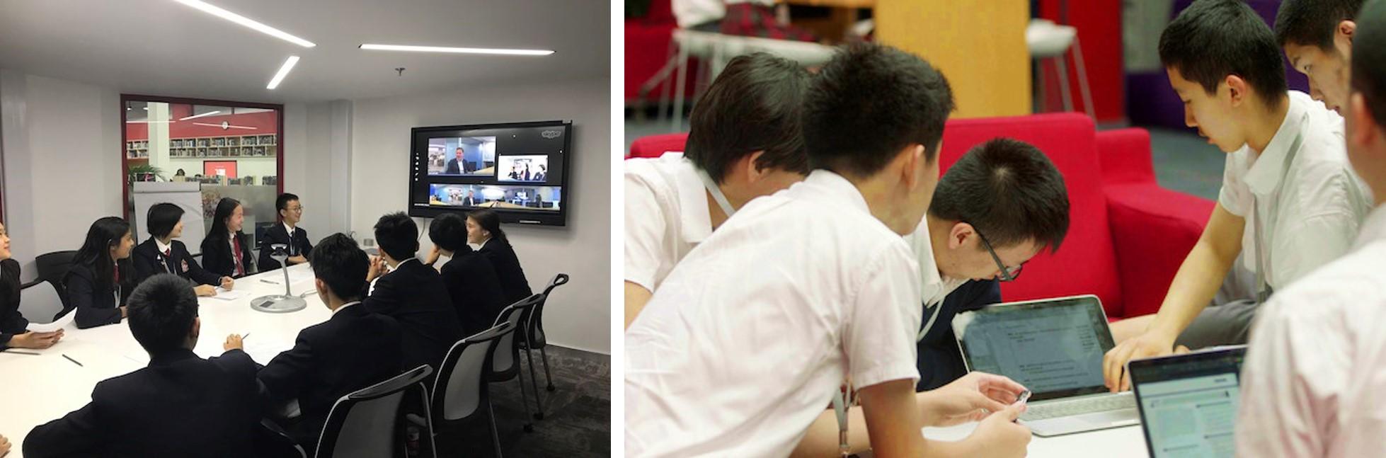 igcse-programme-student-discussing-北京德威英国国际学校