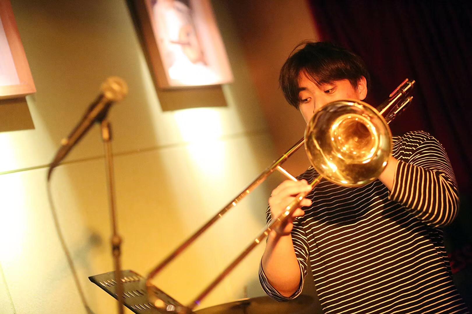 Jason R with Trombone