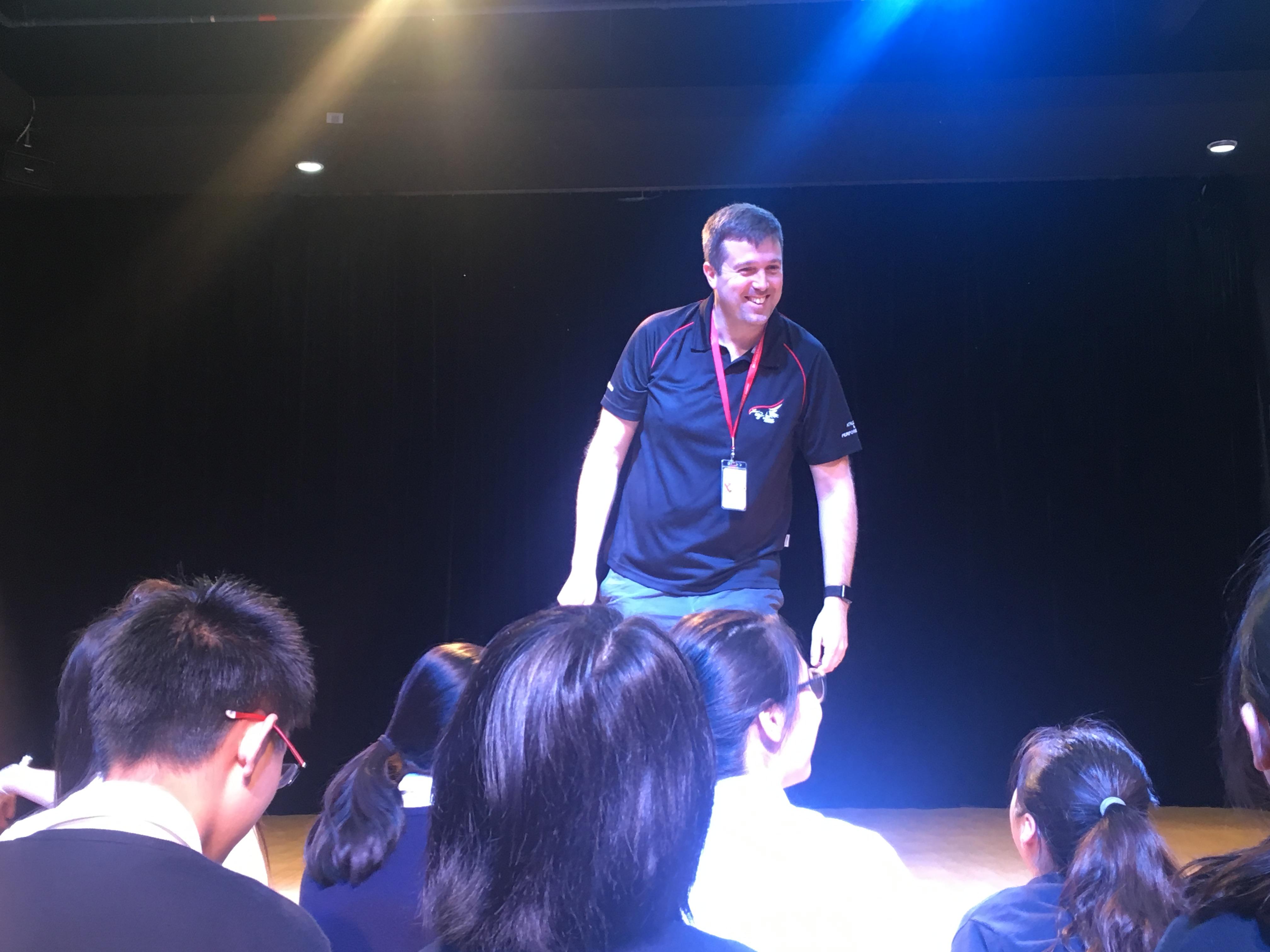 Drama and theatre teacher Kieran Burgess DCB