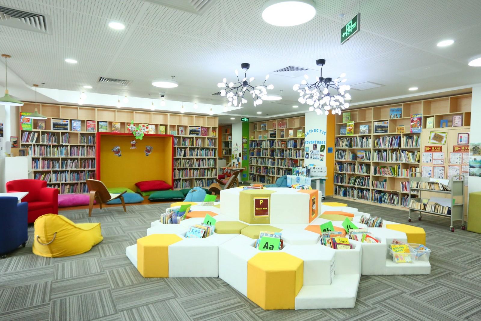 北京德威小学部图书馆