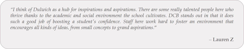 student quote - lauren z