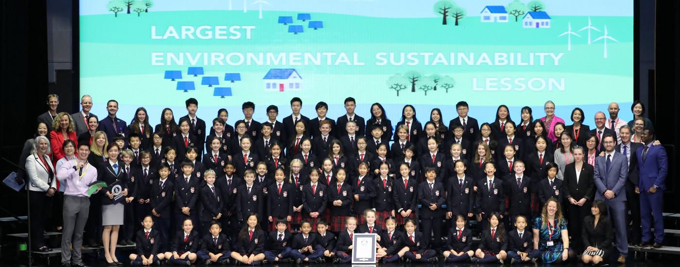 亚洲各德威学校3000多名学生今日共同携手,助推全球可持续发展议程
