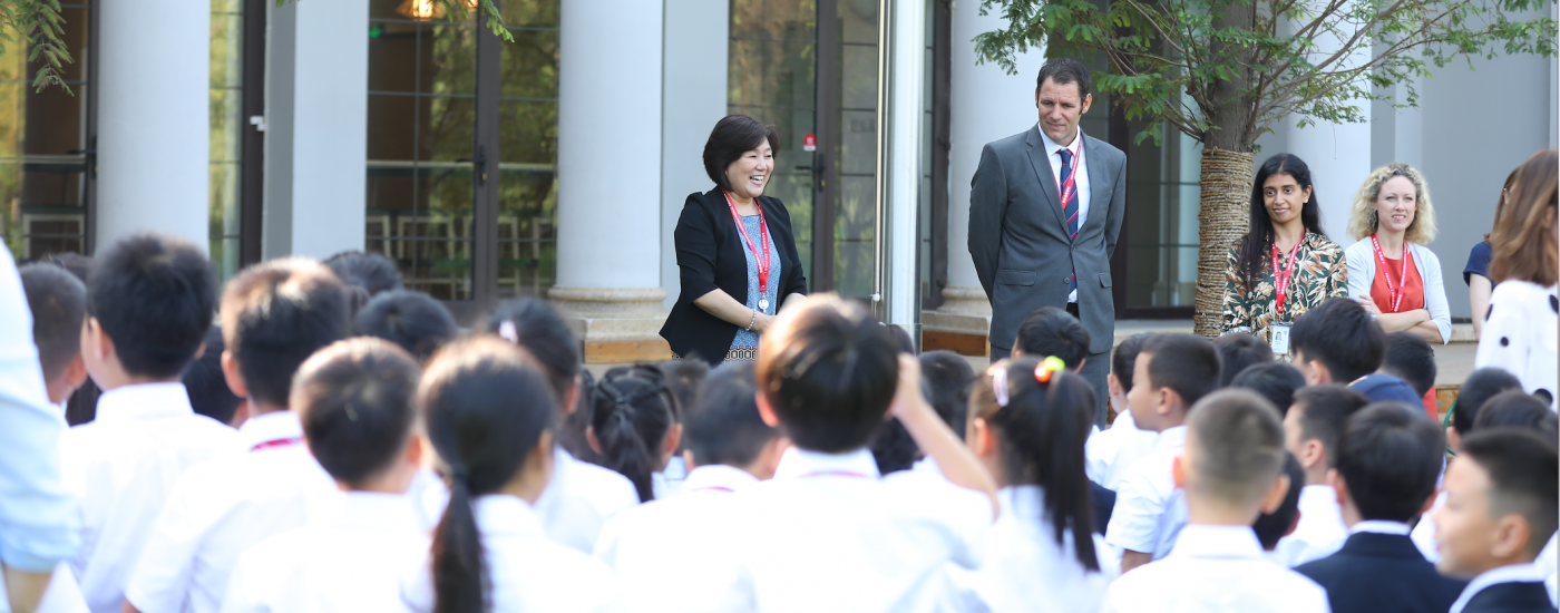 Dehong Beijing Heads of School greet new students