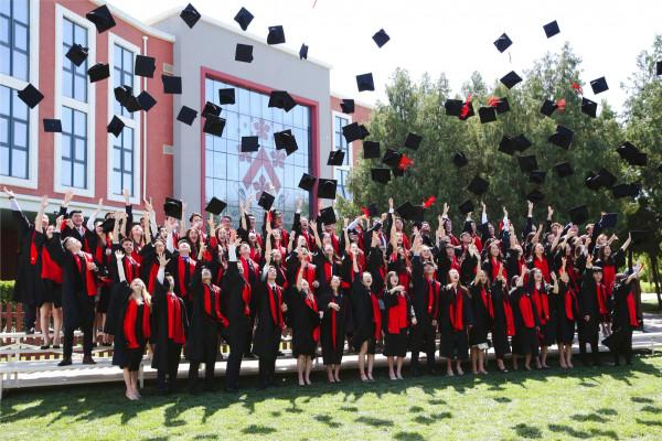 DCB Graduation - class of 2019 hat throwing