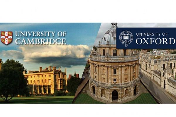 University of Cambridge and Oxford